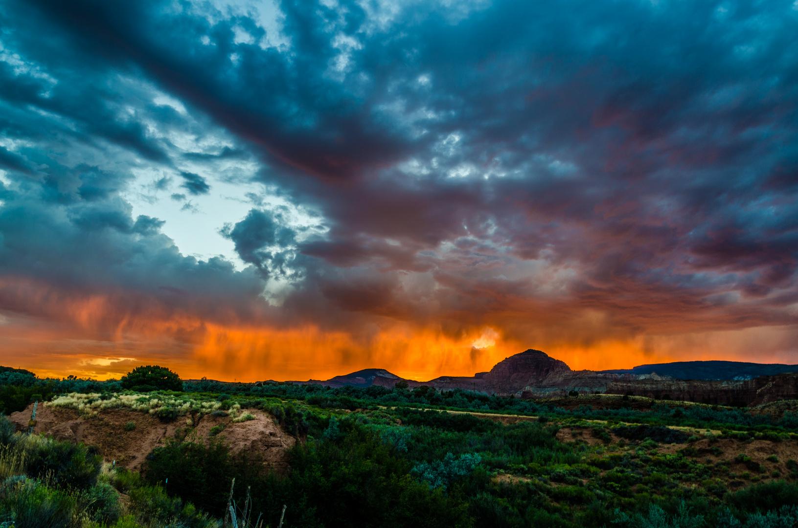 Capitol Reef - Gewitter und Sonne