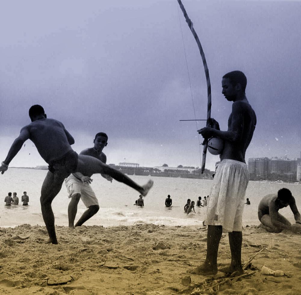Capoeira am Strand von Rio