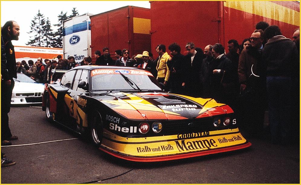 Capri im alten Fahrerlager Nürburgring