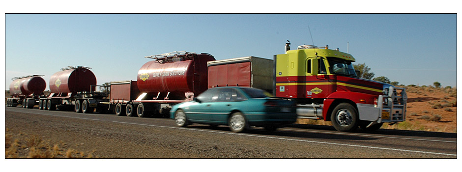 Car meets Road Train
