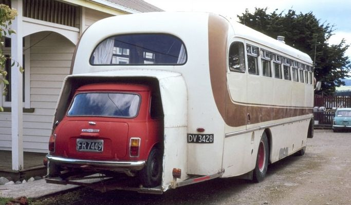 Car port in einem Campingbus