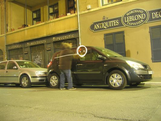 Car writing