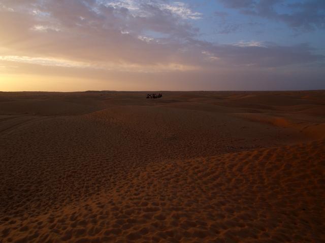 caravane dans le desert tunisien