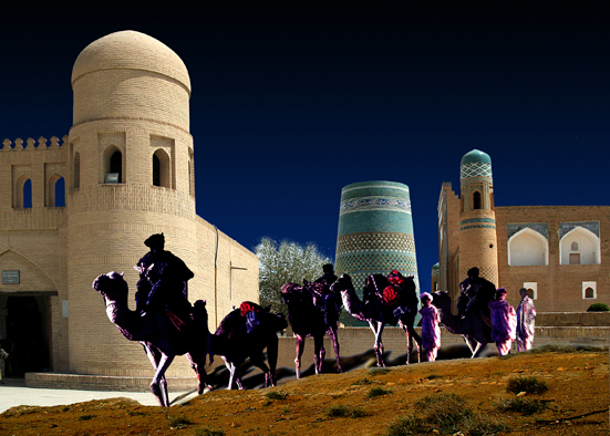 caravane fiction à Khiva (Ouzbekistan)