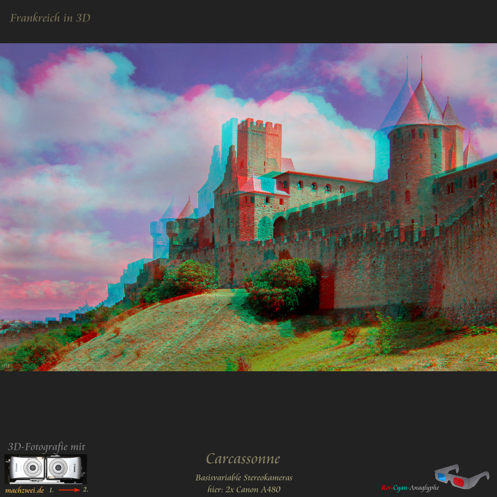 Carcassonne in 3D - Anaglyphe VollHD