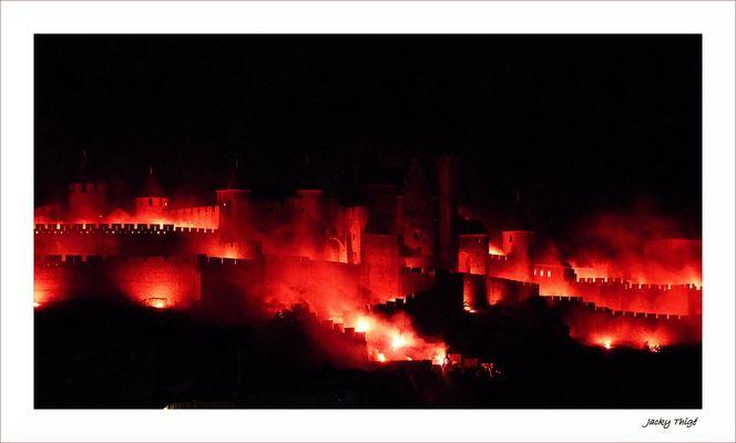 Carcassonne : la ville en feu
