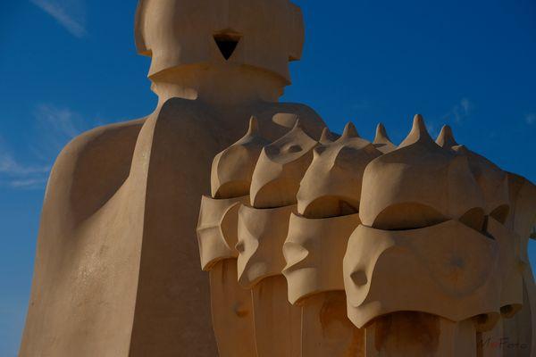 Caretas II Chimeneas de La Pedrera (La Casa Milà Barcelona Catalunya)