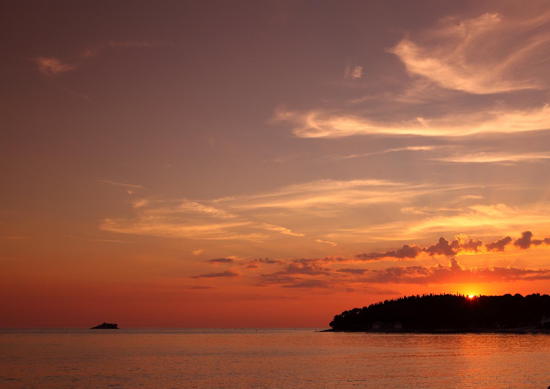 Caribbean sunset in Istria