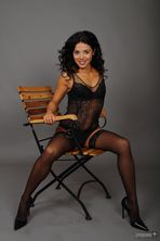 Carla on the chair