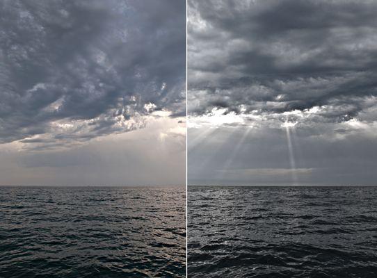 Carnac- En pleine mer. (temps orageux)