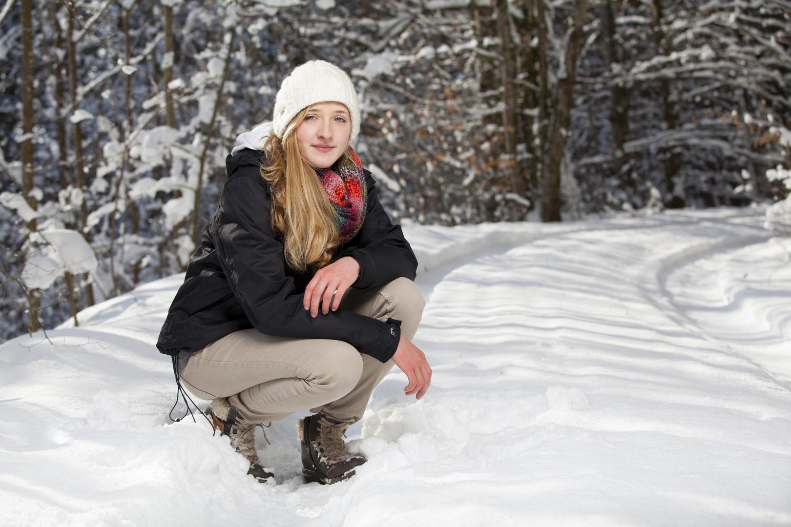 Caro im Schnee