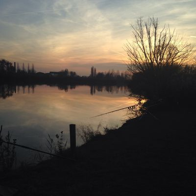 Carpfishing al tramonto