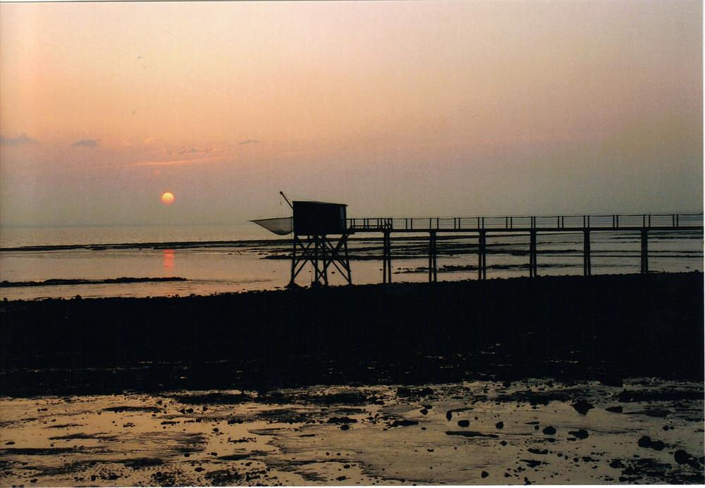 carrelet au soleil levant
