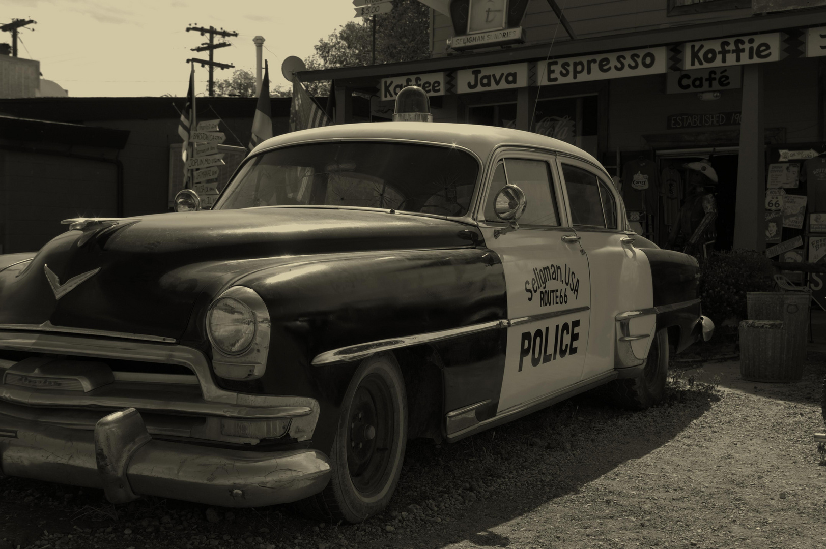 Cars Sheriff - Route 66, Arizona, USA
