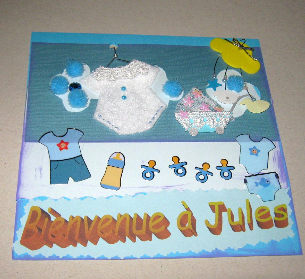 carte de bienvenue à bébé