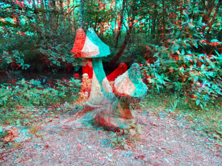 Carved Fungi - Anaglyph #1