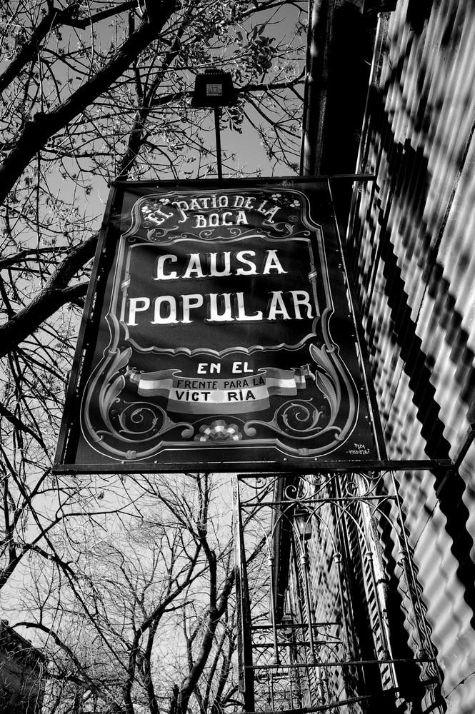 Casa Popular Sign