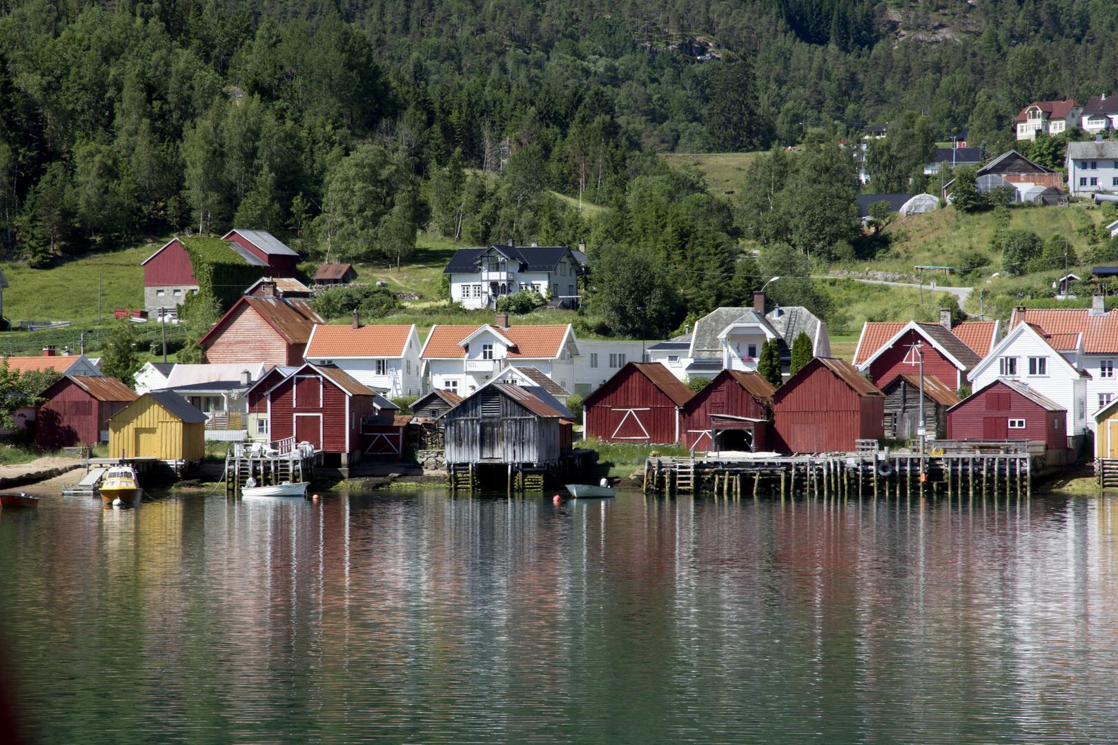 Casas en el fiordo