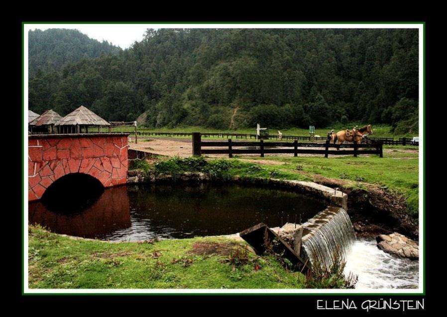 Cascada con puente