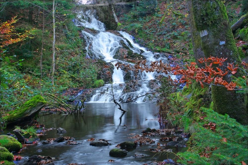 cascade entre Longemer et Retournemer ( Hautes VOSGES)