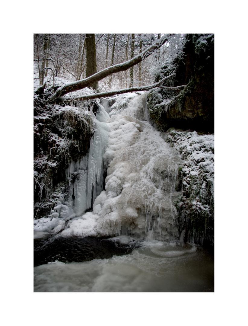 Cascade gelé