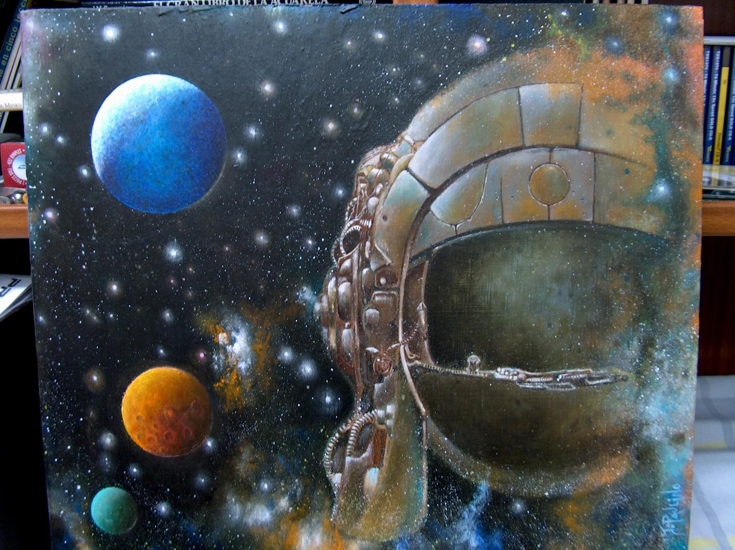 Casco Espacial - (Oleo) Del Pintor: Jose De Paulino