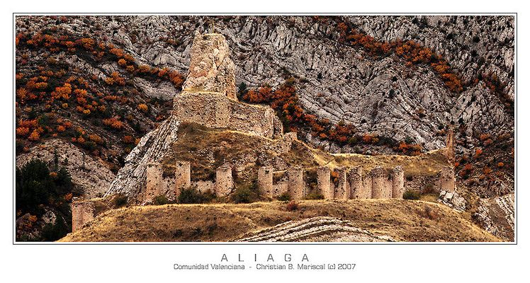 Castillo de Aliaga (Com. Valenciana, Spanien)