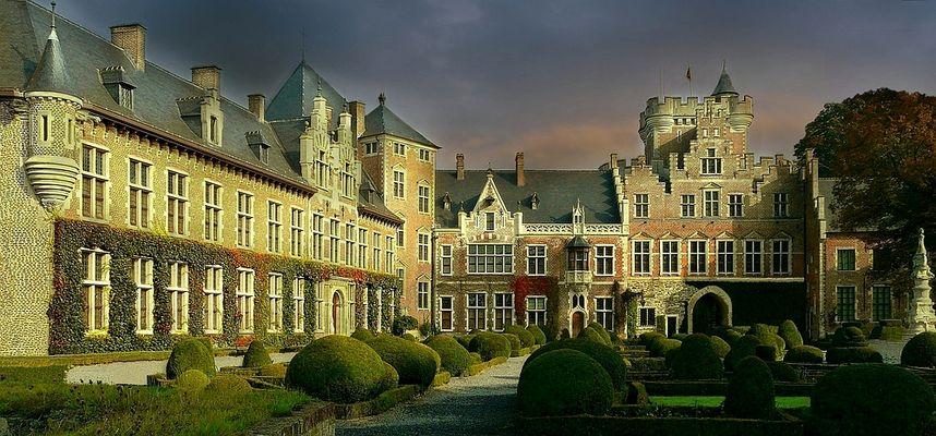 Castle Gaasbeek (Belgium) : the courtyard