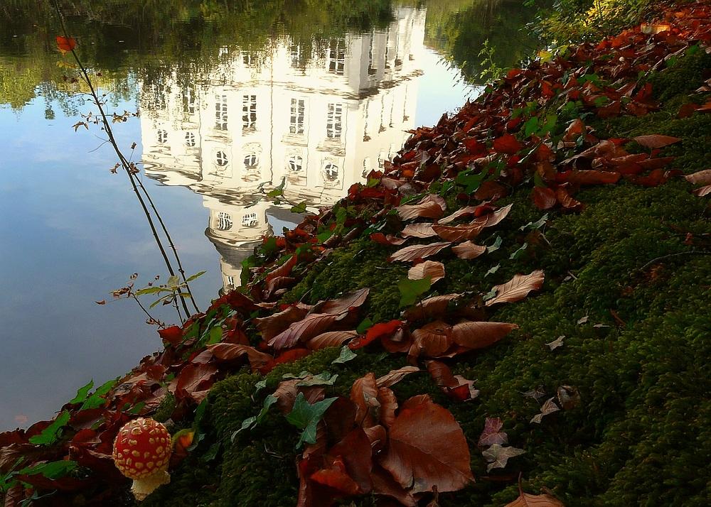 Castle 'Hof Ter Saksen' at Beveren (Belgium)