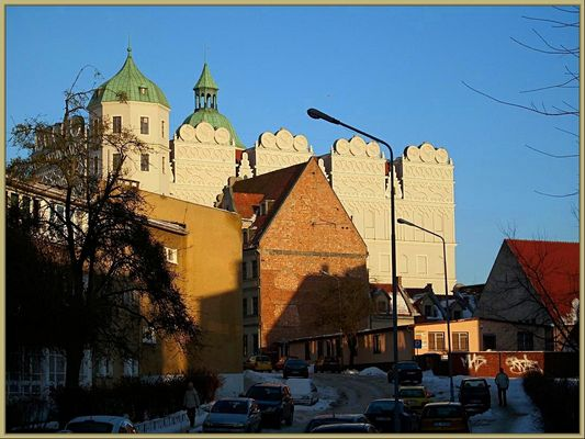 Castle in Stettin from the back side