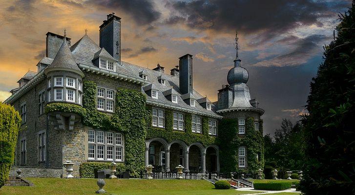 Castle 'Manoir de Lébioles' at Spa-Creppe (Belgium)