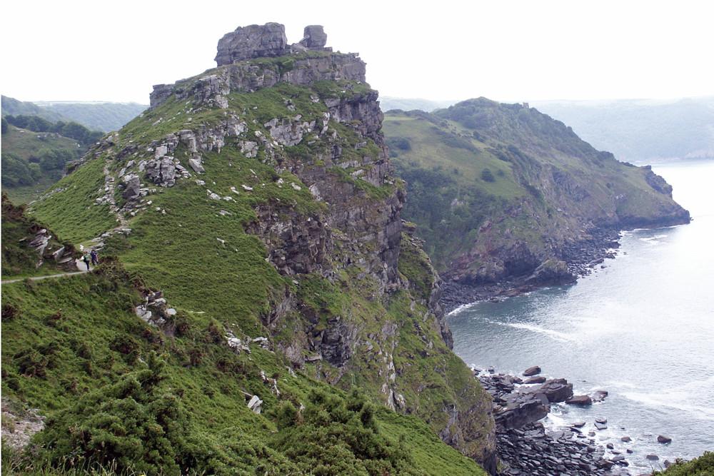 Castle Rock bei Lynton in North Devon