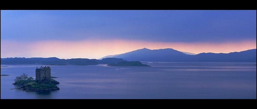 Castle Stalker, Schottland, Panorama-Format