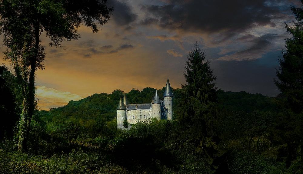 Castle 'Vêves' at Celles (Belgium)