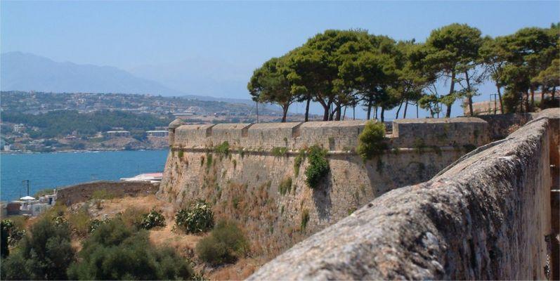 Castle wall in Rethymnon
