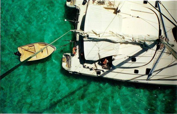 Catamaran en polynésie française.