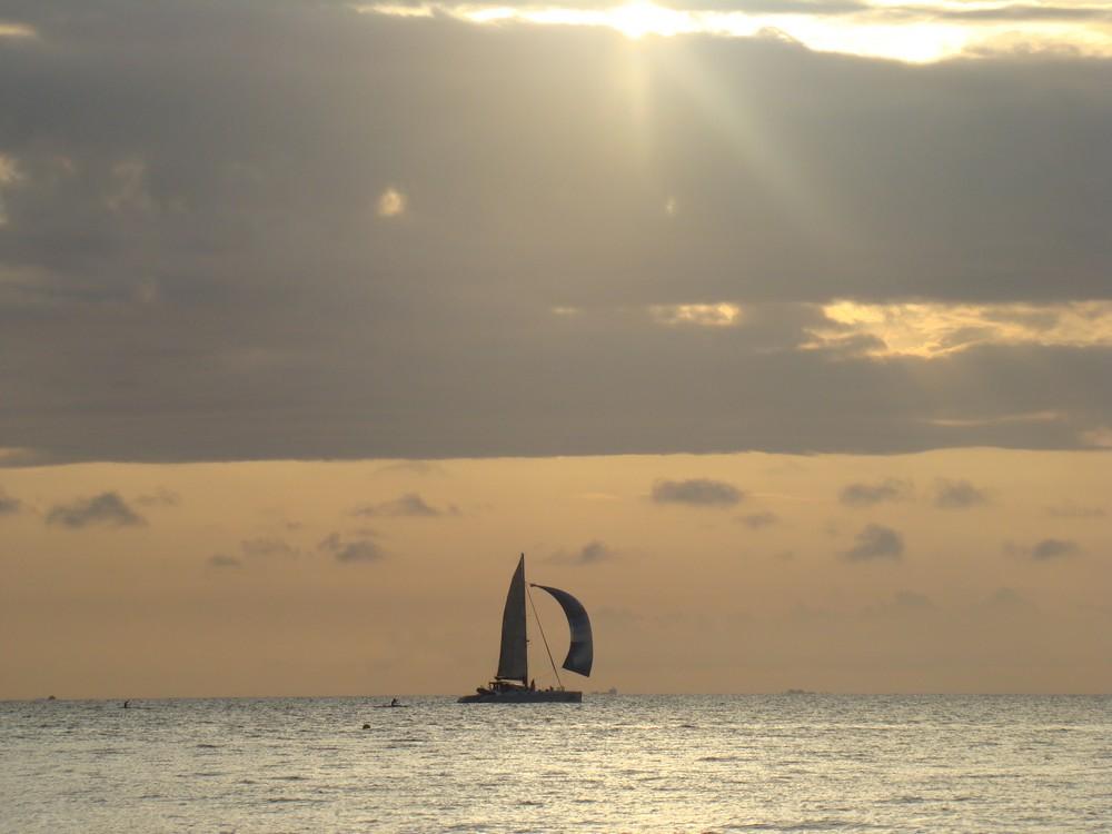 catamaran sur le lagon
