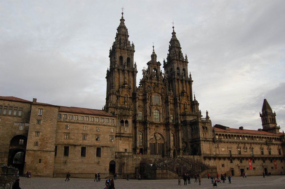 Catedral de Santiago de Compostela tomada desde el Oratorio