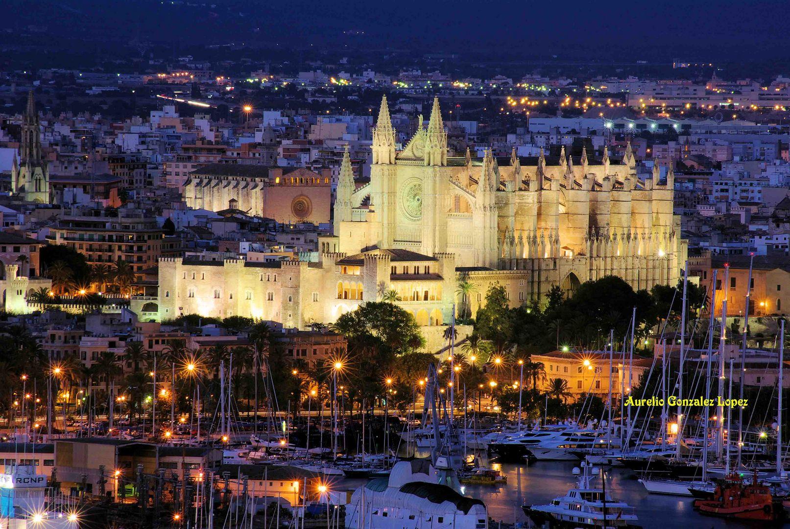 Catedral y palacio de la almudaina de palma de mallorca - Fotografia palma de mallorca ...