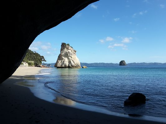 Cathedral Cove,  Neuseeland am Morgen