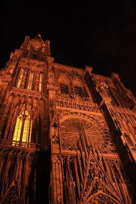 Cathédrale Notre-Dame de Strasbourg de nuit
