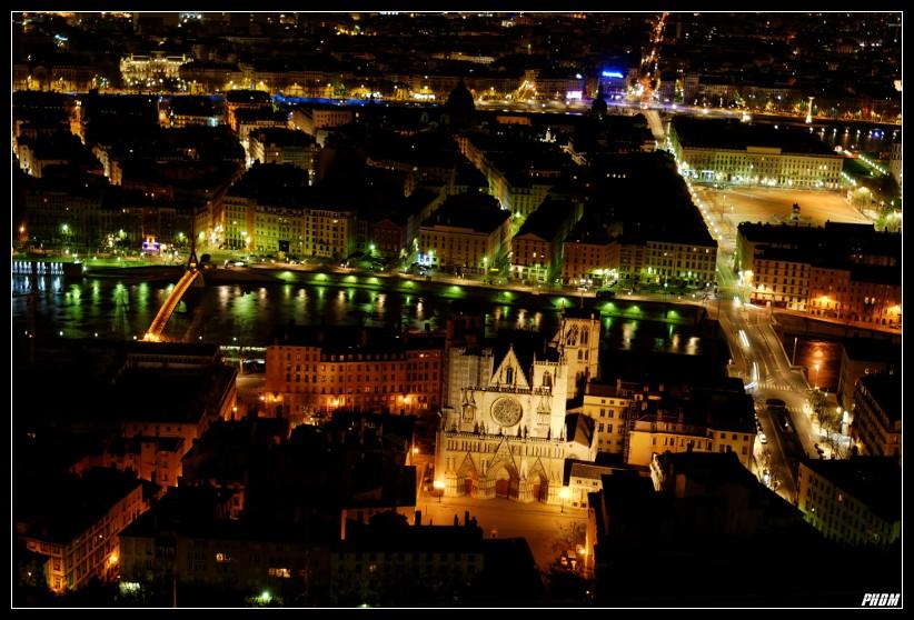 Cathédrale Saint Jean depuis Fourvière (Lyon France)