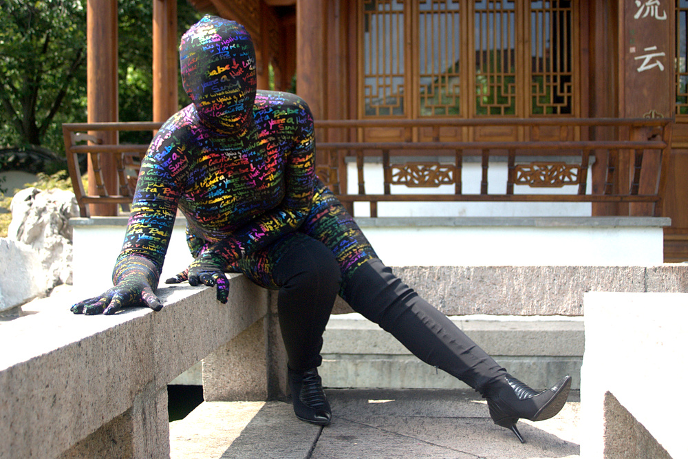 Catsuitgirl and the multicolor dreamsuit