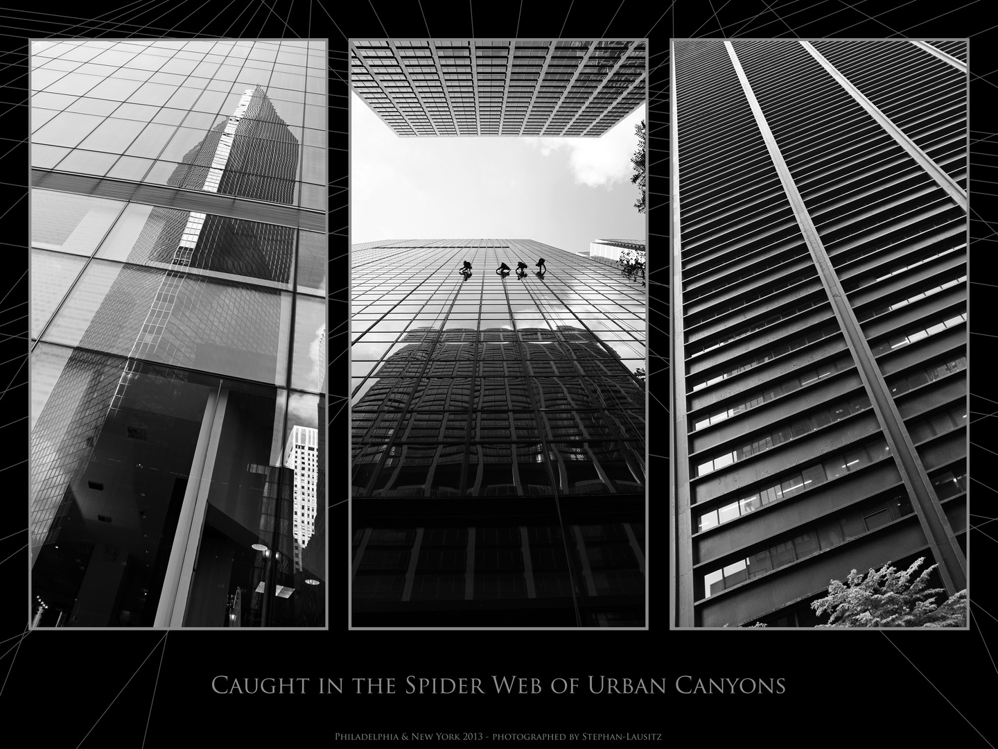 caugth in the spider web of urban canyons