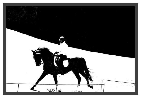 Cavalier au jardin de St Adrien