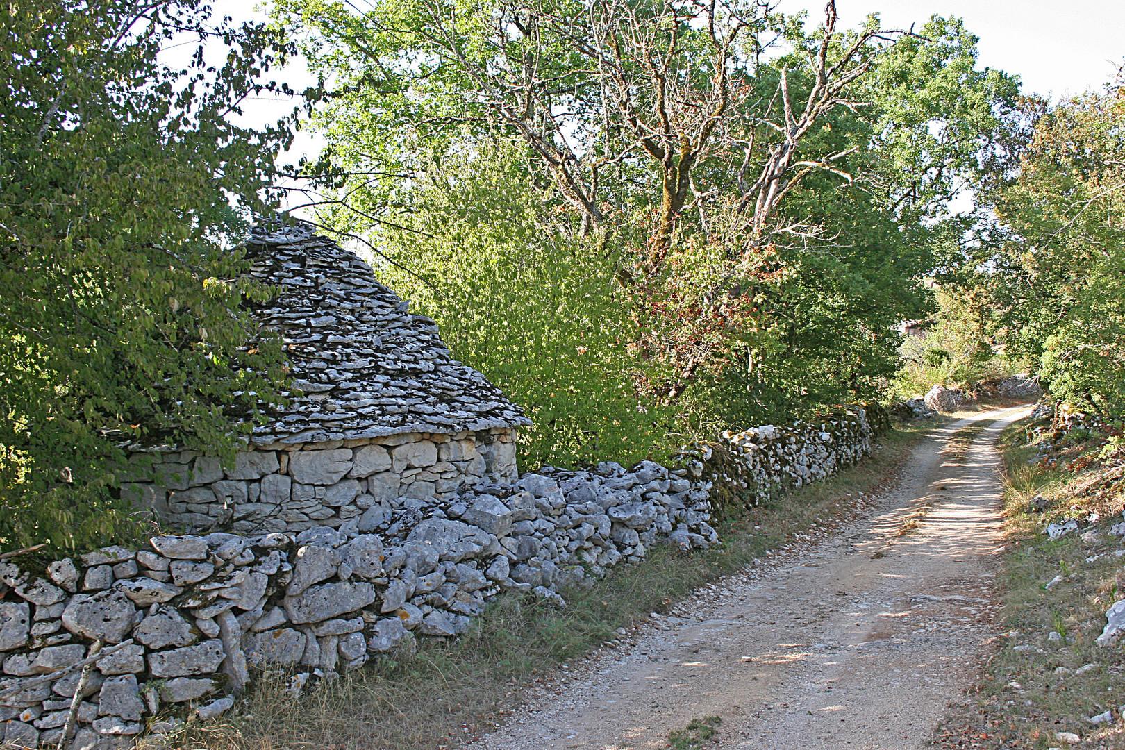cazelle et mur de pierres, Lot