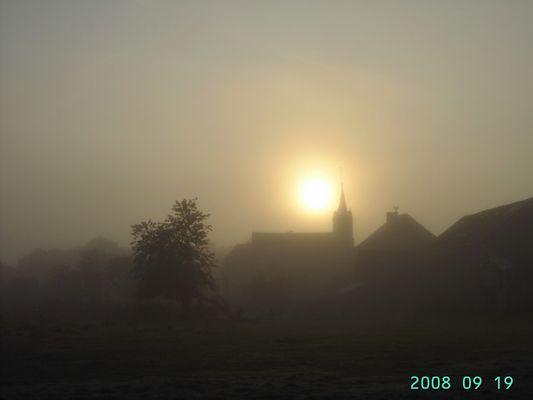 Ce matin,le brouillard