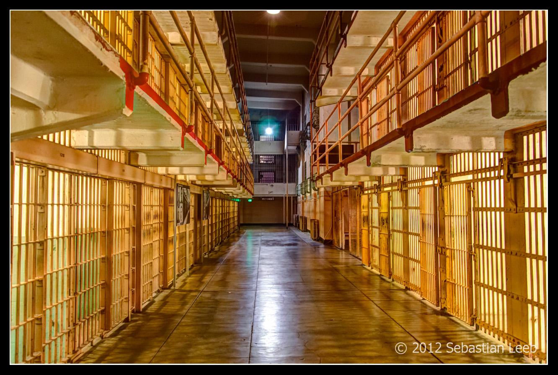 Cells of Alcatraz at Night