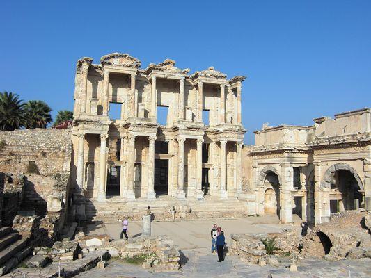 Celsus-Bibliothek in der antiken Stadt Ephesus