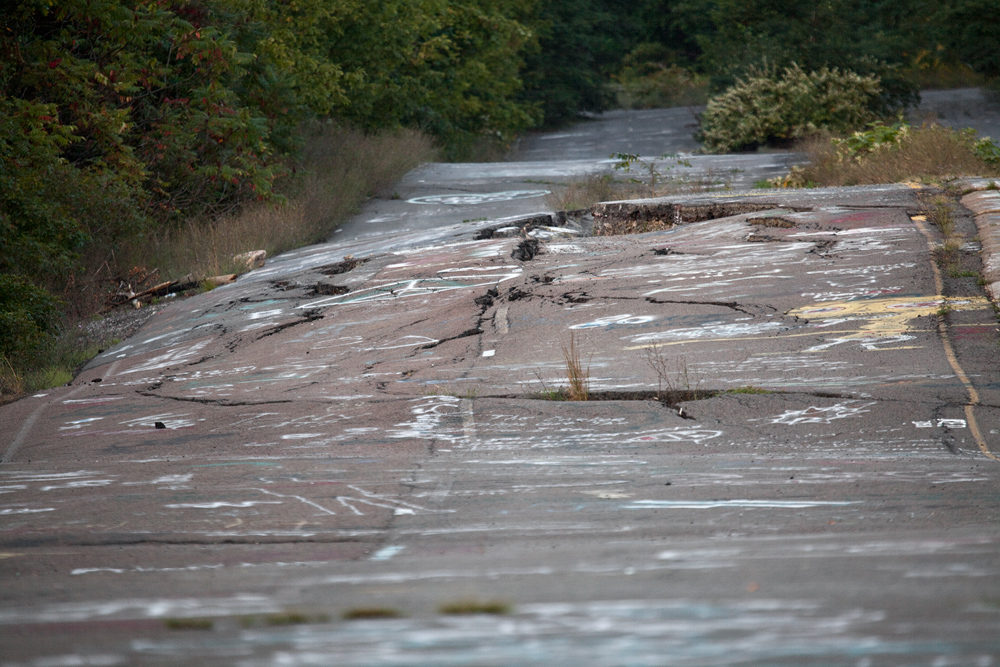 Centralia #4 - damaged road